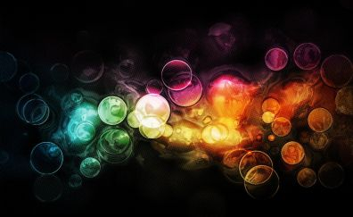Abstract artwork of colorful circles