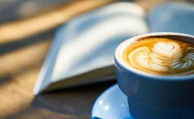 Book, coffee, cup, blur