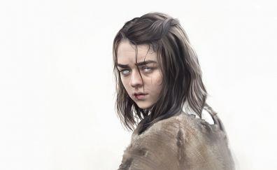 Arya stark, game of thrones, TV show, art