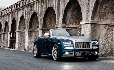 Rolls-Royce Dawn, blue luxury car