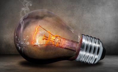 Creative Tungsten Light bulb glow