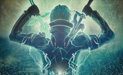 Kirigaya Kazuto, Sword Art Online, Kirito, SAO, art