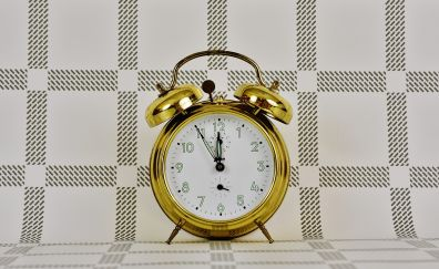 Golden Alarm clock, clock
