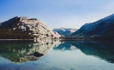 Mountains lake nature