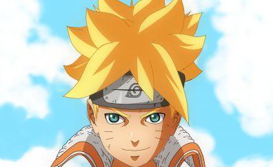 Boruto Uzumaki, anime boy' face