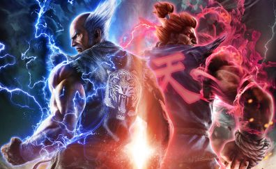 Tekken 7, akuma, heihachi, video game