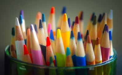 Pencils, colored, stationary