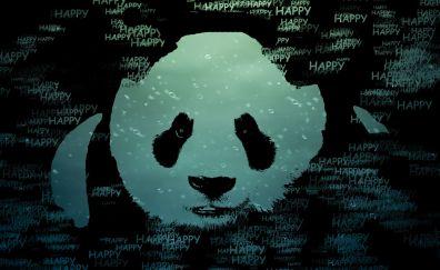 Happy panda artwork