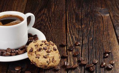 Coffee beans, cookies