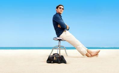 Royal pains TV show, Mark Feuerstein, beach, sand, actor