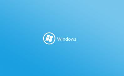 Windows logo in blue background