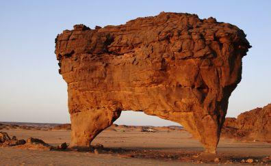 Big rock of Sahara desert