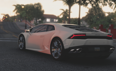 Lamborghini Huracan LP 610 4 white car