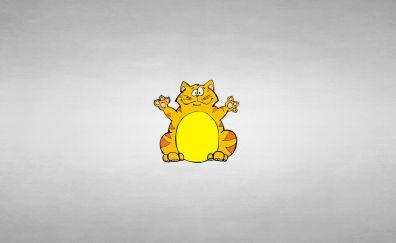 Fat cat, funny, humor, minimalism