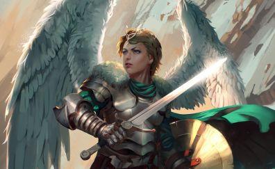 Angel, warrior, fantasy