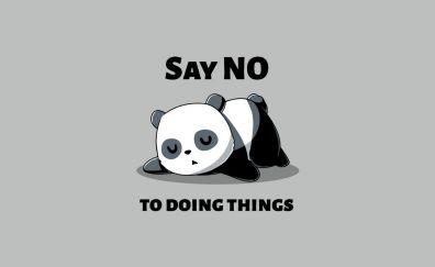 Panda, sleep, minimal, quotes