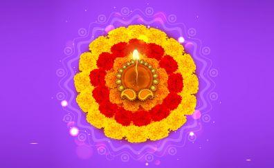 Diwali rangoli digtal artwork