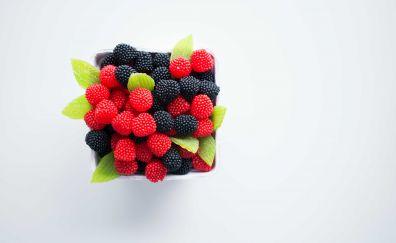 Marmalade, blackberry, raspberry, fruits