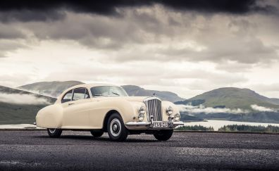 Bentley Continental, classic white car