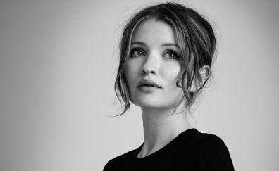 Emily Browning, Australian actress, monochrome