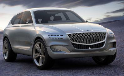 Genesis GV80 Hydrogen Fuel Cell Concept, luxury car, 4k