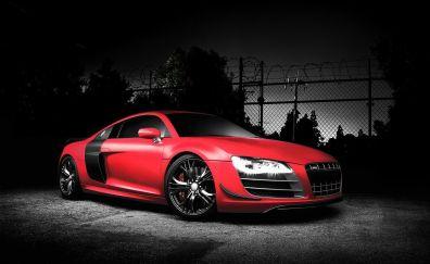 Red Audi R8 car