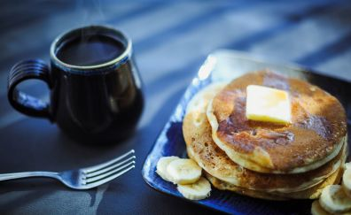 Breakfast, food, coffee, coffee cup