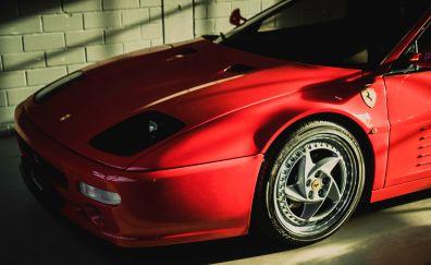 Ferrari F512 M Red Car side view