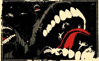 Mouth, dark, art