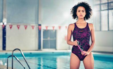 Nathalie Emmanuel, celebrity, swimsuit