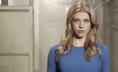 Adrianne Palicki, blonde actress, blue t-shirt