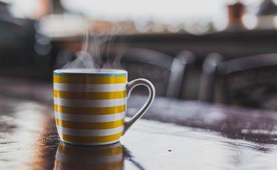 Hot tea in cup