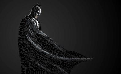 Typographic portrait of batman
