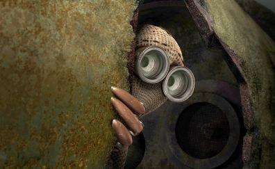 9 animated movie, hiding