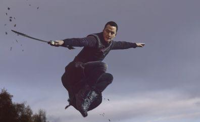 Daniel Wu in Into the badlands TV show, season 2, 2017, katana