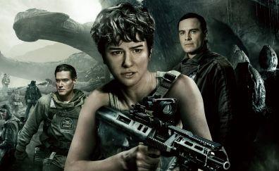 Alien: Covenant, Katherine Waterston, Michael Fassbender, 2017 scifi movie