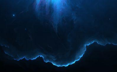 Space, dark nebula