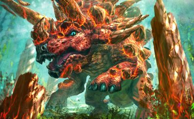 Dinosaur on fire, Hearthstone: heroes of warcraft, video game