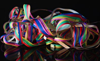Carnival, colorful stripes