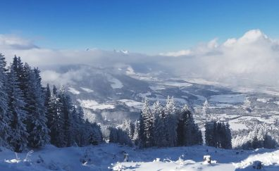 Igls ski, skiing, snow alps, mountains, winter, nature