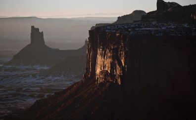 Monument valley, evening, cliff