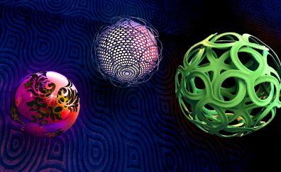 Balls spheres shapes braiding