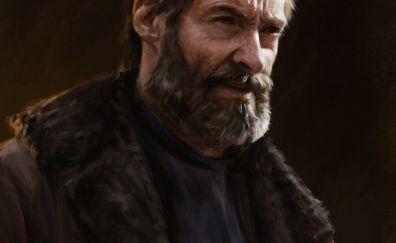 Hugh Jackman, wolverine, logan, fan art