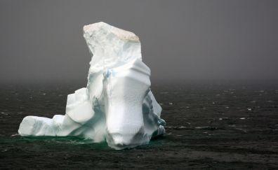 White iceberg of sea