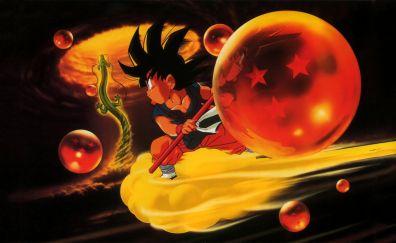 Son goku, dragon ball, anime boy