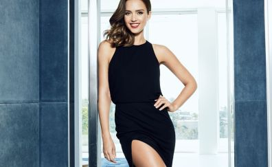 Beautiful and popular actress, smile, Jessica Alba