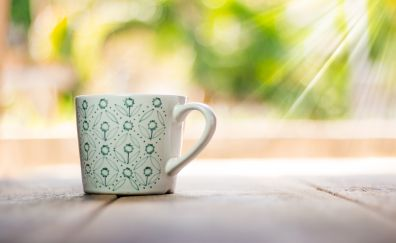 Cup, sunlight, coffee cup, morning