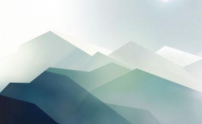 Mountains, digital art, minimal