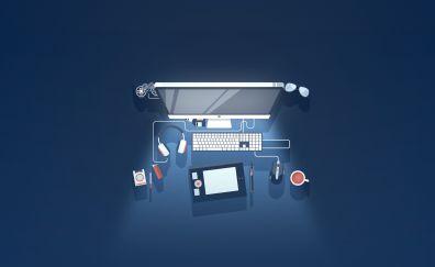 Modern computer minimal artwork