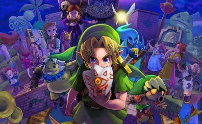 The Legend of Zelda: Majora's Mask, Link, mask, video game